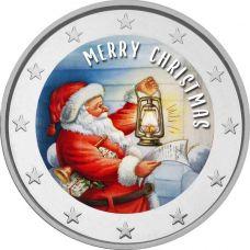 2 € Hyvää Joulua - Joulupukki VÄRITETTY