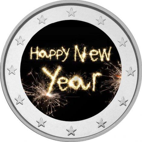 2 € Hyvää uutta vuotta #2 VÄRITETTY