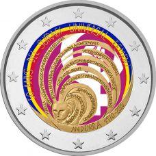 Andorra 2020 2 € Naisten äänioikeus 50 vuotta VÄRITETTY