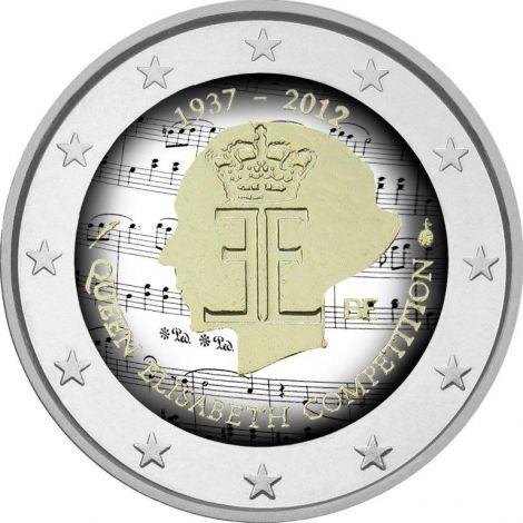 Belgia 2012 2 € Kuningatar Elisabeth -musiikkikilpailu 75 vuotta #2 VÄRITETTY