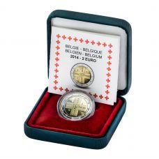 Belgia 2014 2 € Punainen Risti 150v PROOF