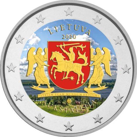 Liettua 2020 2 € Aukštaitija VÄRITETTY