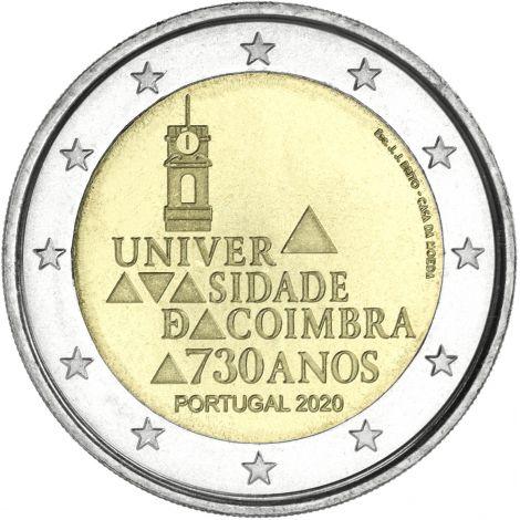 Portugali 2020 2 € Coimbran yliopisto 730 vuotta UNC