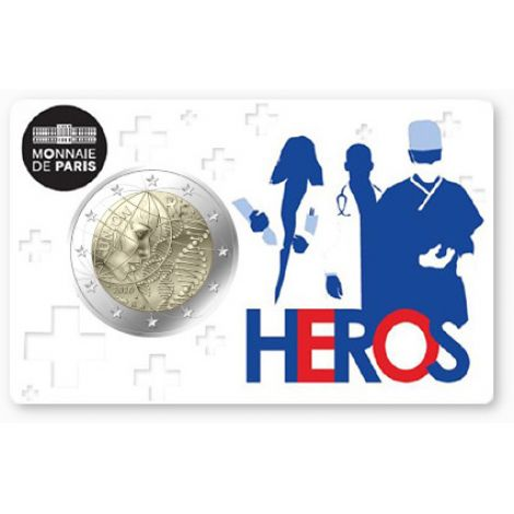 Ranska 2020 2 € Lääketiede - Heros COINCARD