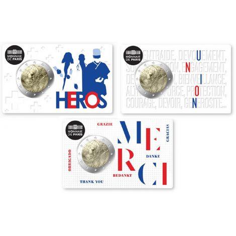 Ranska 2020 2 € Lääketiede kokoelma COINCARD