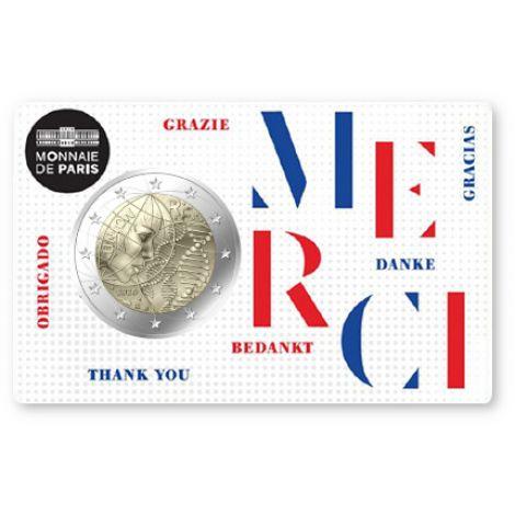 Ranska 2020 2 € Lääketiede - Merci COINCARD