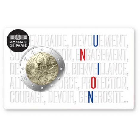 Ranska 2020 2 € Lääketiede - Union COINCARD