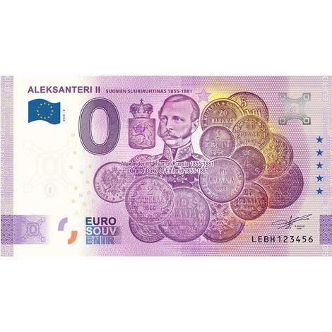 Suomi 2020 0 € Aleksanteri II (LEBH 2020-3) UNC