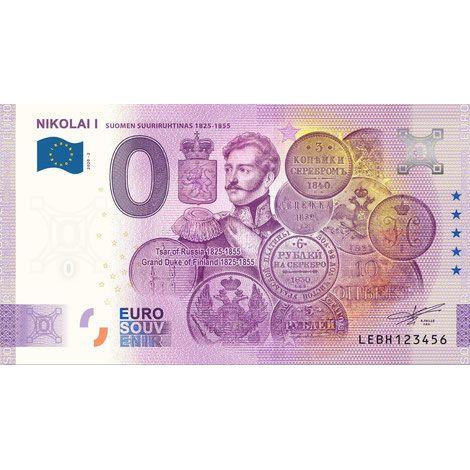 Suomi 2020 0 € Nikolai I - 5v juhlaversio (LEBH 2020-2) UNC