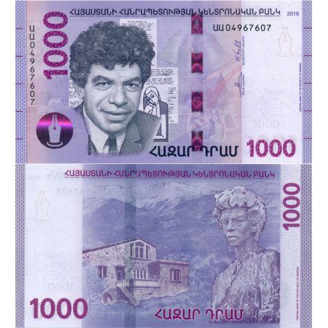 Armenia 2018 1000 Dram P61 UNC