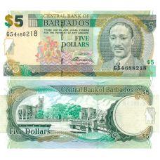 Barbados 2007 5 Dollars P67b UNC