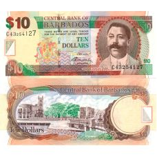 Barbados 2012 10 Dollars P68c UNC