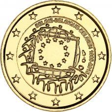 Belgia 2015 2 € EU:n lippu 30v KULLATTU