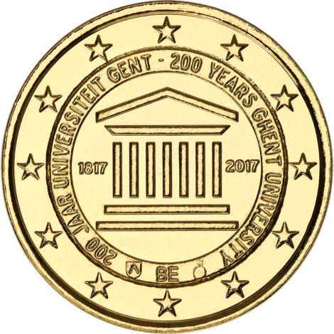 Belgia 2017 2 € Gentin yliopisto 200 vuotta KULLATTU