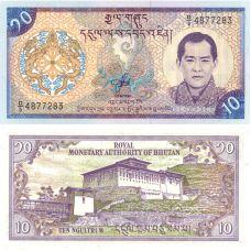Bhutan 2000 10 Ngultrum P22 UNC