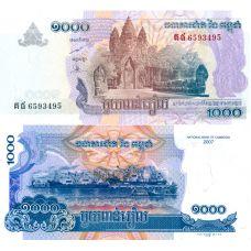 Cambodia 2007 1000 Riels P58c UNC