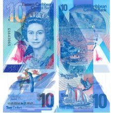 Itä-Karibian valtiot 2019 10 Dollars P56 UNC