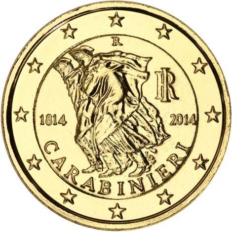 Italia 2014 2 € Carabinieri 200 vuotta KULLATTU