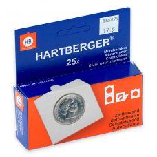 Kolikkokehys, Hartberger 17,5 mm tarralla - 25 kpl pakkaus