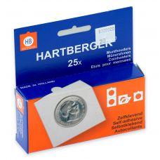 Kolikkokehys, Hartberger 20 mm tarralla - 25 kpl pakkaus