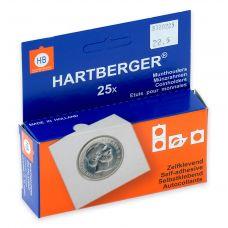 Kolikkokehys, Hartberger 22,5 mm tarralla - 25 kpl pakkaus