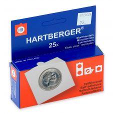 Kolikkokehys, Hartberger 25 mm tarralla - 25 kpl pakkaus
