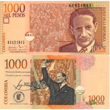 Kolumbia 2015 1000 Pesos P456t UNC