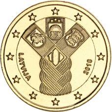 Latvia 2018 2 € Baltian maat 100 vuotta KULLATTU