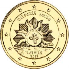 Latvia 2019 2 € Vaakuna - nouseva aurinko KULLATTU