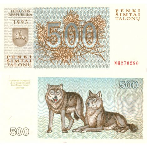 Liettua 1993 500 Talonu P46 UNC