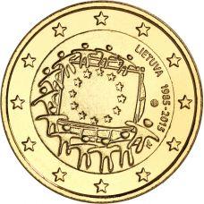 Liettua 2015 2 € EU:n lippu 30v KULLATTU