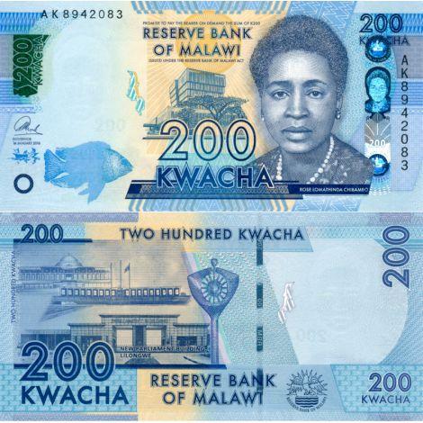 Malawi 2016 200 Kwacha P60c UNC