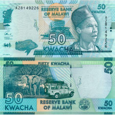 Malawi 2016 50 Kwacha P64c UNC