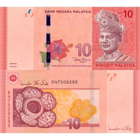 Malesia 2012 10 Ringgit P53 UNC
