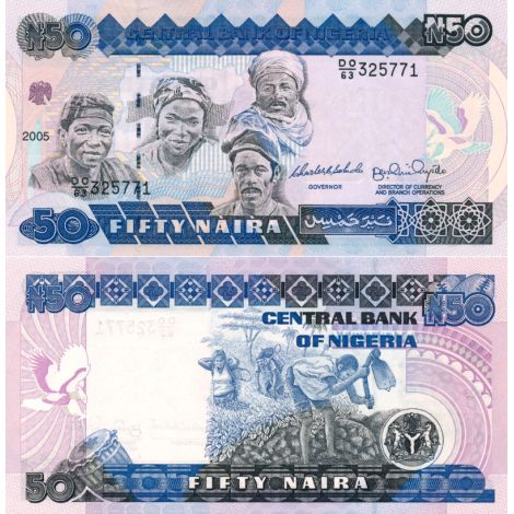 Nigeria 2005 50 Naira P27f UNC