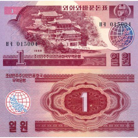 Pohjois-Korea 1988 1 Won P35 UNC