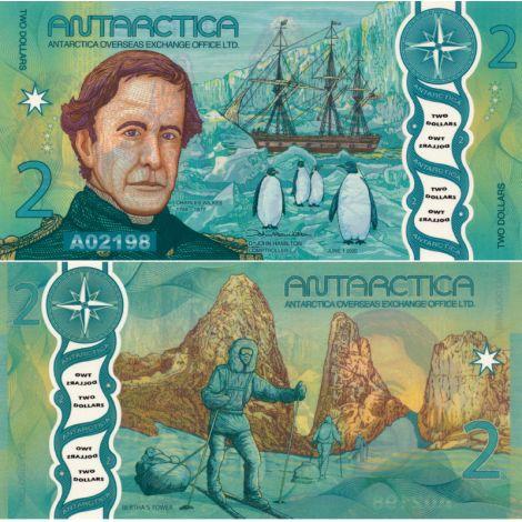 Antarctica 2020 2 Dollar P33 UNC
