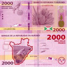 Burundi 2018 2000 Francs P52b UNC