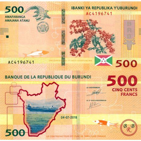 Burundi 2018 500 Francs P50b UNC