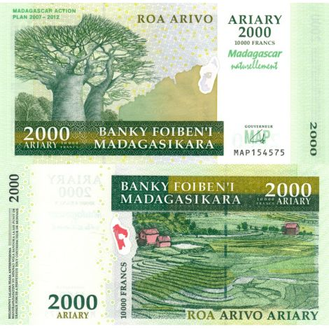 Madagaskar 2007 2000 Ariary P93 UNC
