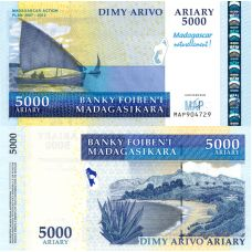 Madagaskar 2007 5000 Ariary P94 UNC