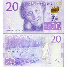 Ruotsi 2015 20 Kronor P69 UNC
