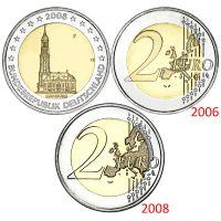 Saksa 2008 2 € Hampuri F, virhelyönti KL9