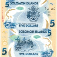 Salomonsaaret 2019 5 Dollars P32 UNC