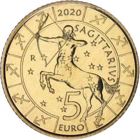 San Marino 2020 5 € Eläinrata - Jousimies UNC