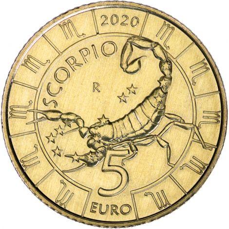 San Marino 2020 5 € Eläinrata - Rapu UNC