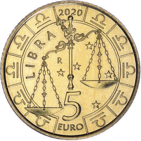 San Marino 2020 5 € Eläinrata - Vaaka UNC