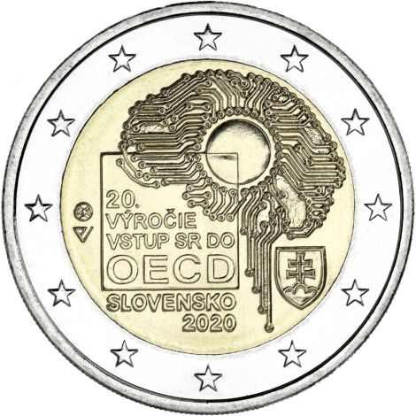 Slovakia 2020 2 € OECD 20 vuotta UNC