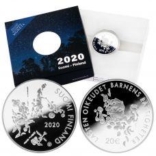 Suomi 2020 20 € Mannerheimin Lastensuojeluliitto 100 vuotta HOPEA PROOF