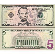 Yhdysvallat 2009 $5 P531-E UNC